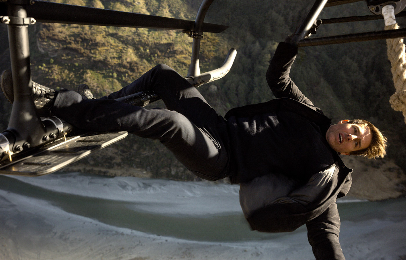 ACTION. Tom Cruise shows off he can do a lot of action again in the film.