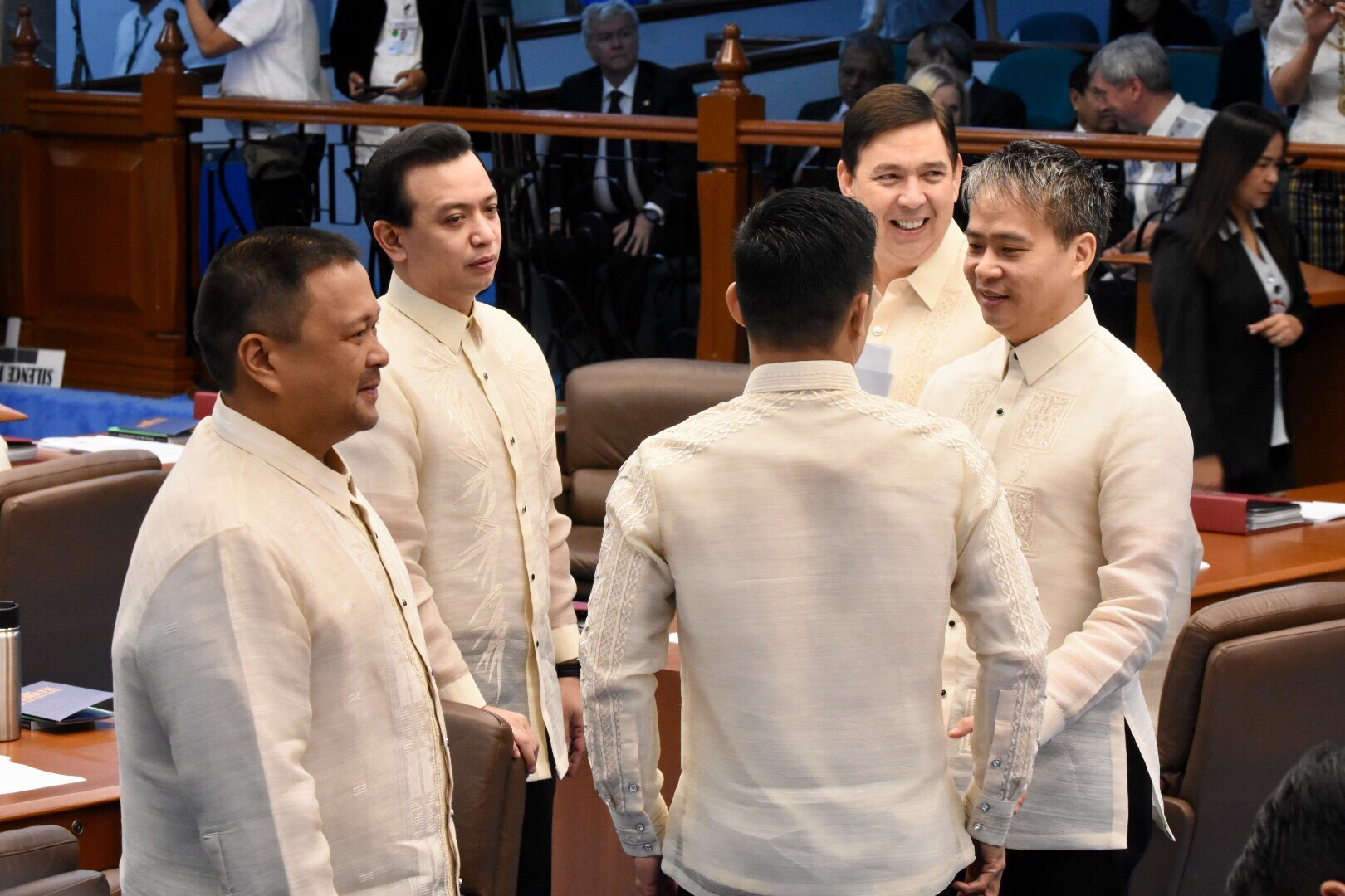 THE SENATE MEN. JV Ejercito, Antonio Trillanes, Joel Villanueva, and Ralph Recto.