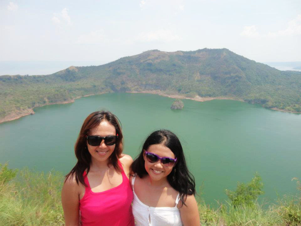 EASING IN. Abellanoza, an outdoor adventurer, first introduced her then-9-year-old daughter Alexa May to easy treks like to Taal Volcano. Photo courtesy of Sheilamei Abellanoza