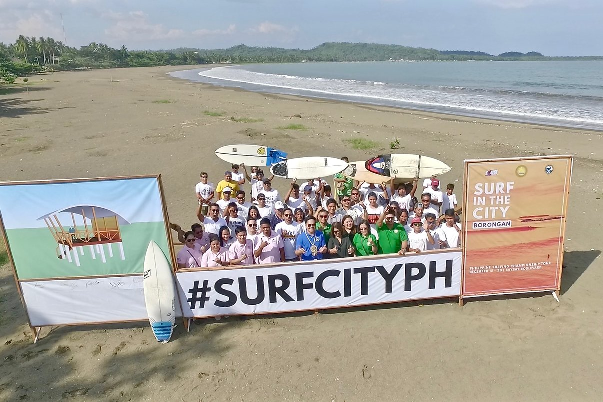 TOURISM. The Surf in the City festival will promote Borongan City as an international surfing location. Photo release