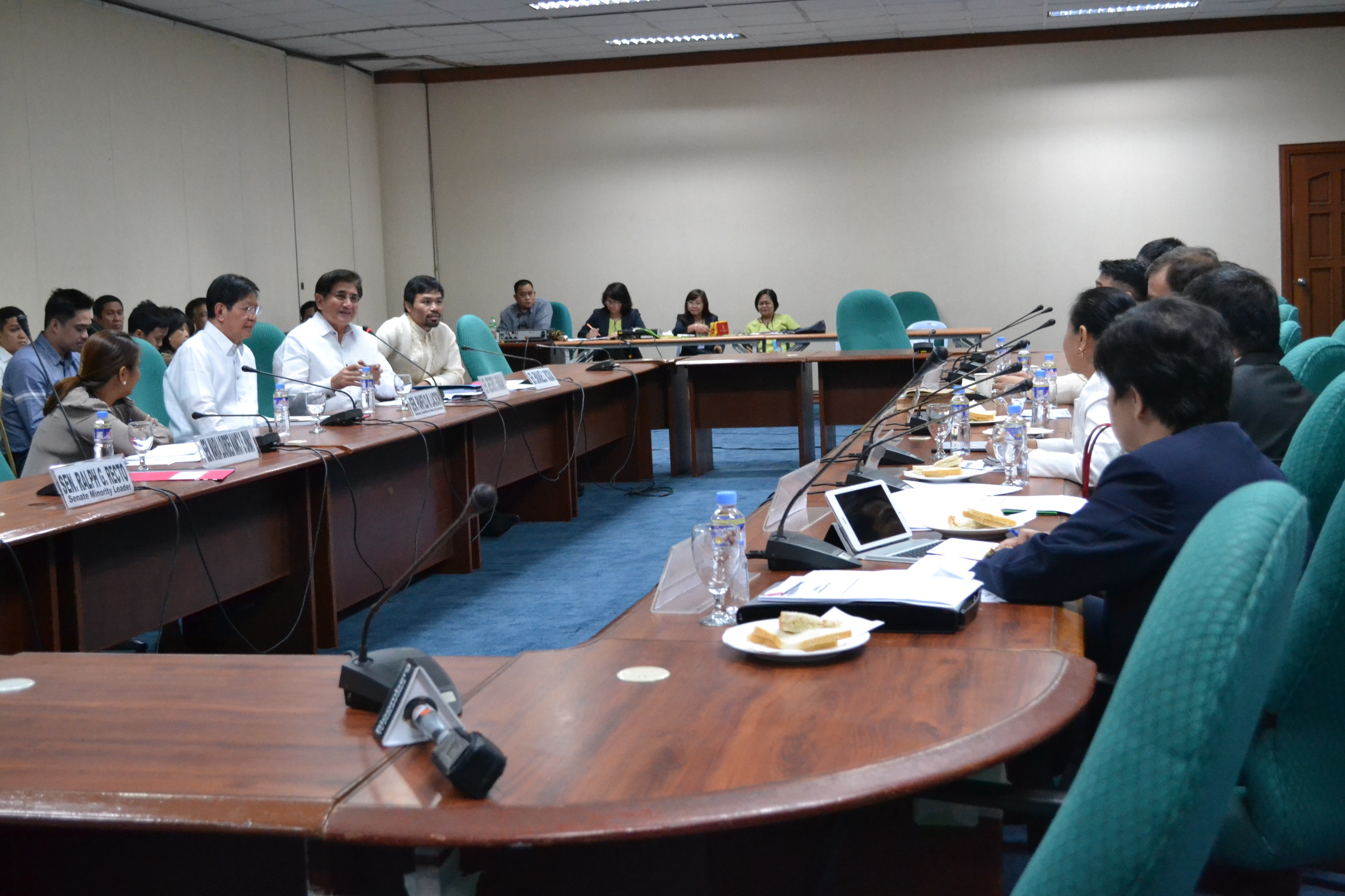 UP IN THE AIR. 'There will be no renewal of e-gaming licenses. We found out that over 100 outlets were in violation of distance requirements,' PAGCOR's Domingo tells senators. Photo by Chrisee Dela Paz/Rappler