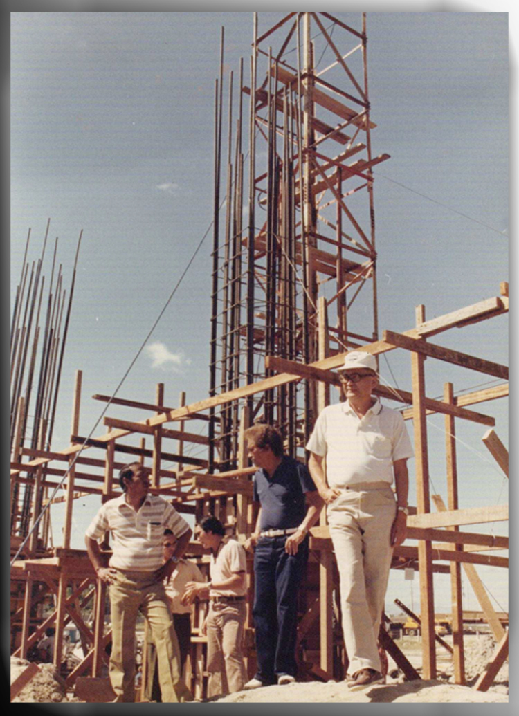 INSTITUTION. Pictured rightmost of the photo is David M. Consunji, who was called the father of contemporary construction in the Philippines. Photo from company website