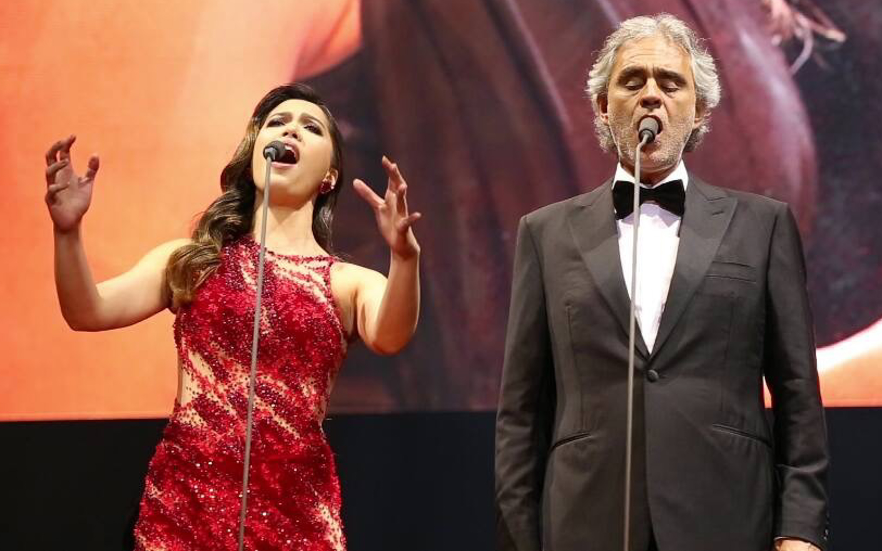 DREAM COME TRUE. Christine, who grew up listening to Andrea Bocelli, says she never imagined she would ever perform with him. Photo by Roberto Vivancos Studios