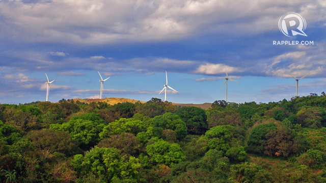 WINDMILLS ON HILLS. These 125-meter-high wind turbines are not only useful for generating electricity but are beautiful, too.