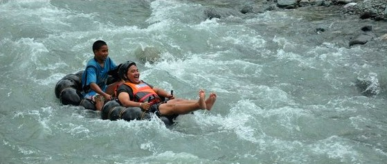 WHITEWATER TUBING. Sarangani is among the first, if not the first, to introduce river tubing in the Philippines as a tour activity.