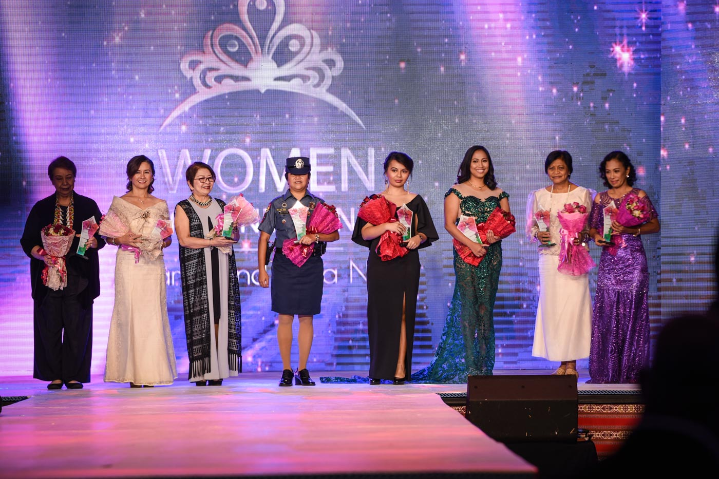 The women honored during the gala night