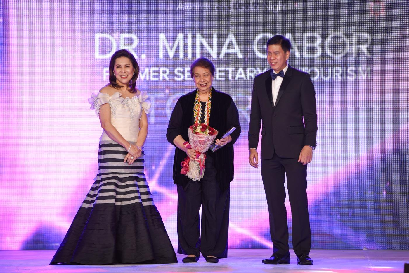 Tourism Secretary Wanda Teo and one of her predecessors, Mina Gabor