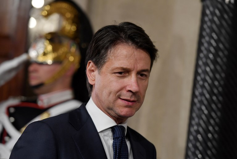 CONTE. In this file photo, Italy's Prime minister Giuseppe Conte leaves the Quirinale presidential palace on May 31, 2018 in Rome. File photo by Tiziana Fabi/AFP