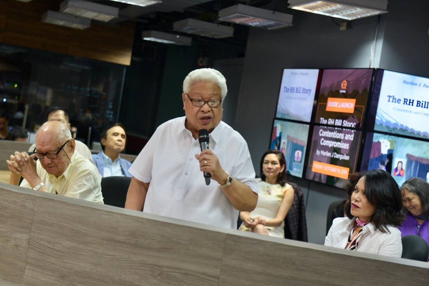 RH LAW. Albay 1st District Representative Edcel Lagman, author of the reproductive health law, gives a speech during the launch of 'The RH Bill Story: Contentions and Compromises.' Photo by Leanne Jazul/Rappler