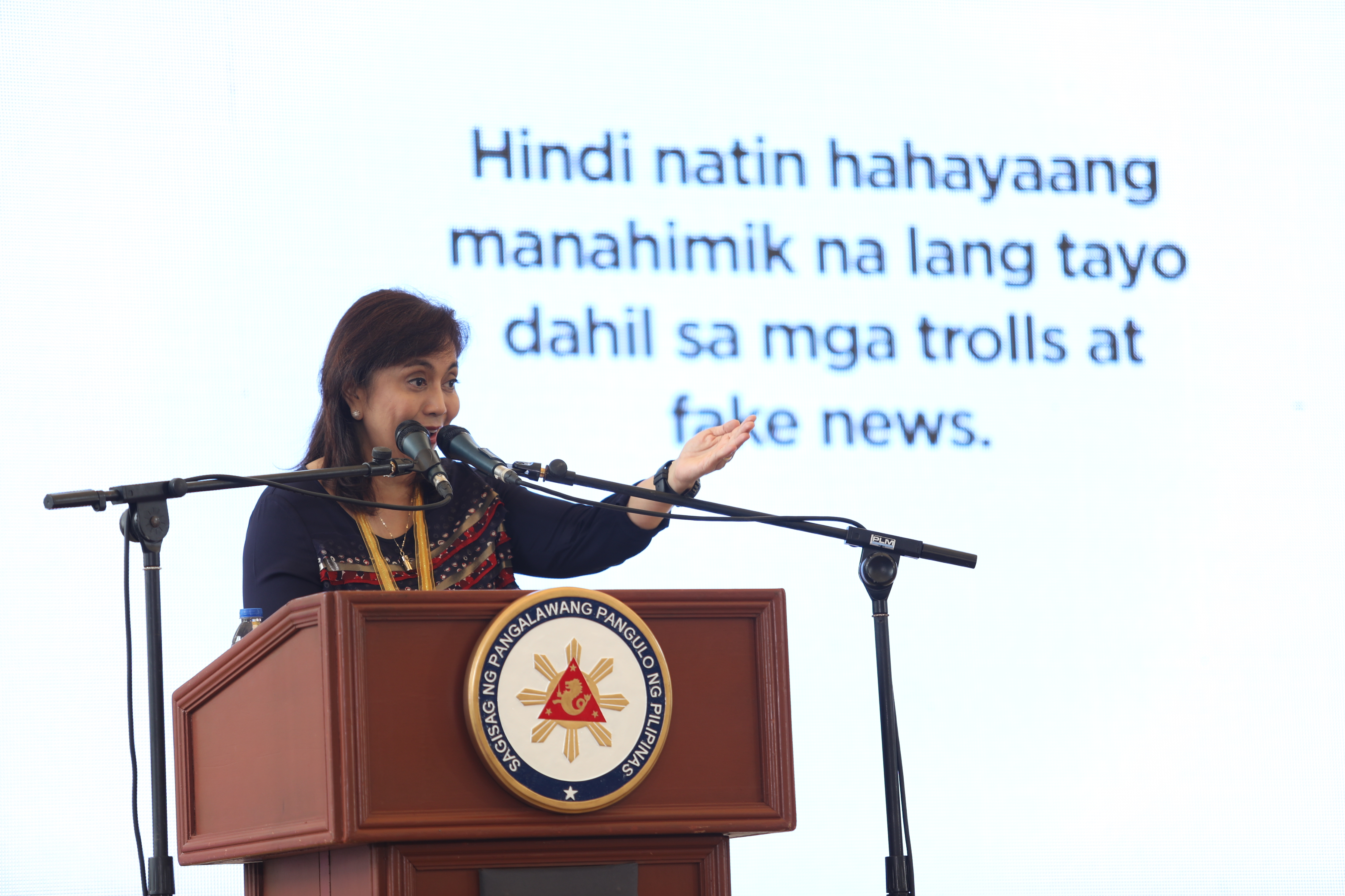 NO TO FAKE NEWS. Robredo attends the Istorya ng Pag-asa Photo Gallery launch in Novaliches, Quezon City on July 25. Photo by OVP