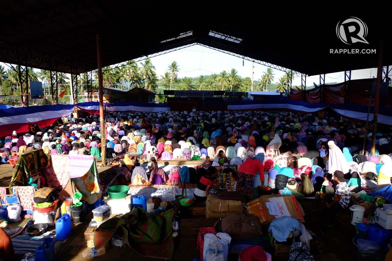 FEAST OF SACRIFICE. Internally-displaced persons are huddled at the Saguiaran Municipal gymnasium on Eid'l Adha