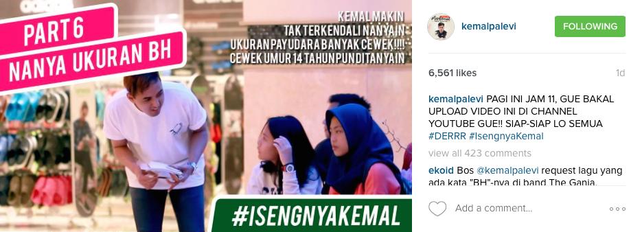Foto screenshot dari Instagram/@kemalpalevi
