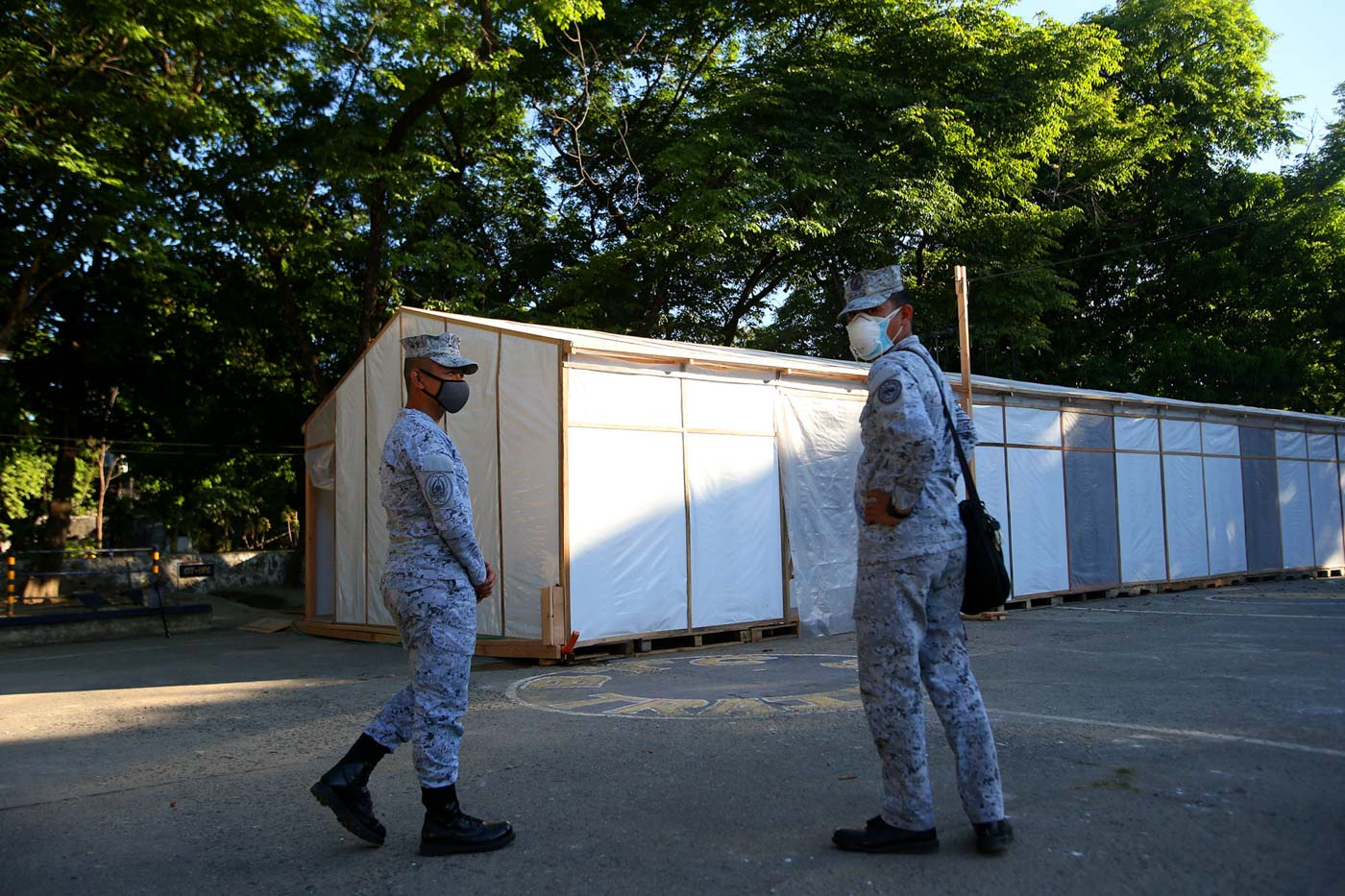 EMERGENCY QUARANTINE. This nifty quarantine facility can take in persons under monitoring and persons under investigation for the novel coronavirus, who might not find room in hospitals swamped with confirmed patients. Photo by Inoue Jaena/Rappler
