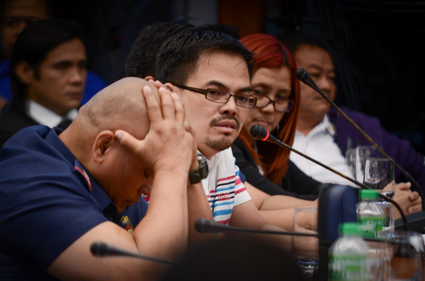 ALLEGED DRUG LORD. Kerwin Espinosa testifies at the Senate inquiry into the death of his father, Albuera Mayor Rolando Espinosa Sr, on November 23, 2016. Photo by LeAnne Jazul/Rappler