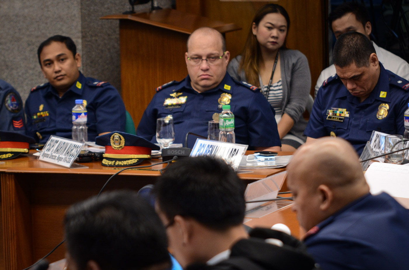 CIDG 8. Superintendent Marvin Marcos looks on as Kerwin Espinosa accuses him of asking for P3 million during the 2016 elections. File photo by LeAnne Jazul/Rappler