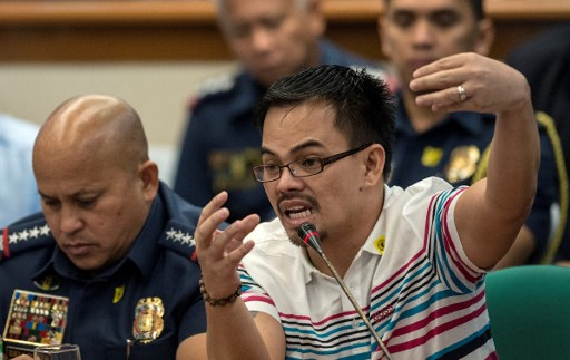 TESTIMONY. Kerwin Espinosa narrates who he got into the drug trade before the the Senate committees on public order and dangerous drugs, and on justice and human rights on November 23, 2016. Photo by Noel Celis/AFP