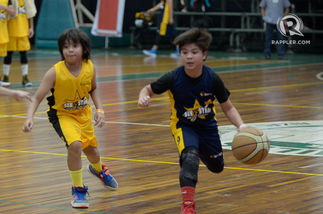 The Star Magic Kids during their basketball game.