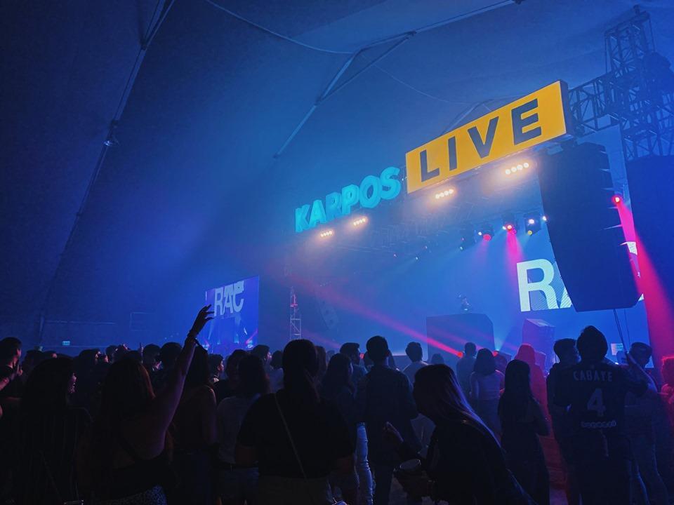 KARPOS LIVE MIX. People danced the night away to electropop rhythms. Photo courtesy of Globe