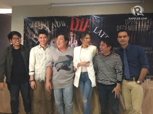 'BUY NOW, DIE LATER.' The cast of the movie 'Buy Now, Die Later' led by Vhong Navarro and Alex Gonzaga. Photo by Alexa Villano/Rappler
