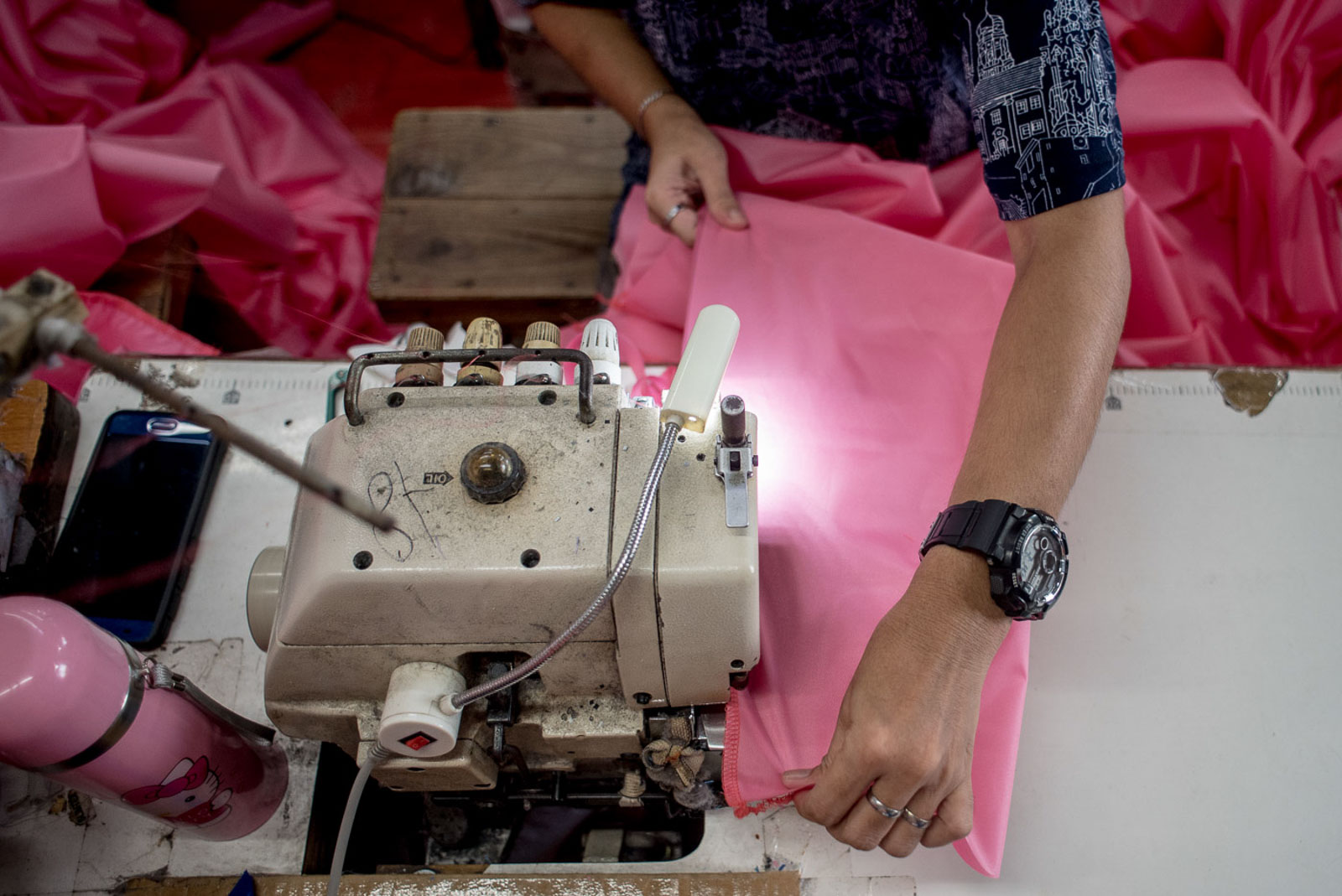 ENSURING QUALITY. The tailor shop tests their fabric with an autoclave machine to ensure that their suits are water-repellant and safe for reuse.