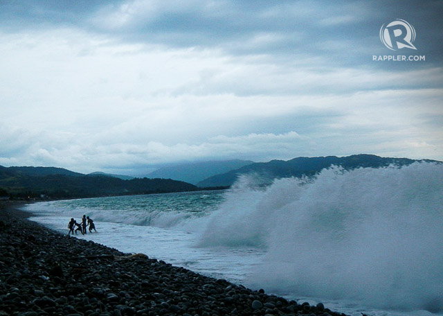 DARK AND DRAMATIC. During rainy season, Mabuau2019s big waves pound on the dark stones. Photo courtesy of Sheilamei Abellanoza and Gian Carlo Jubela