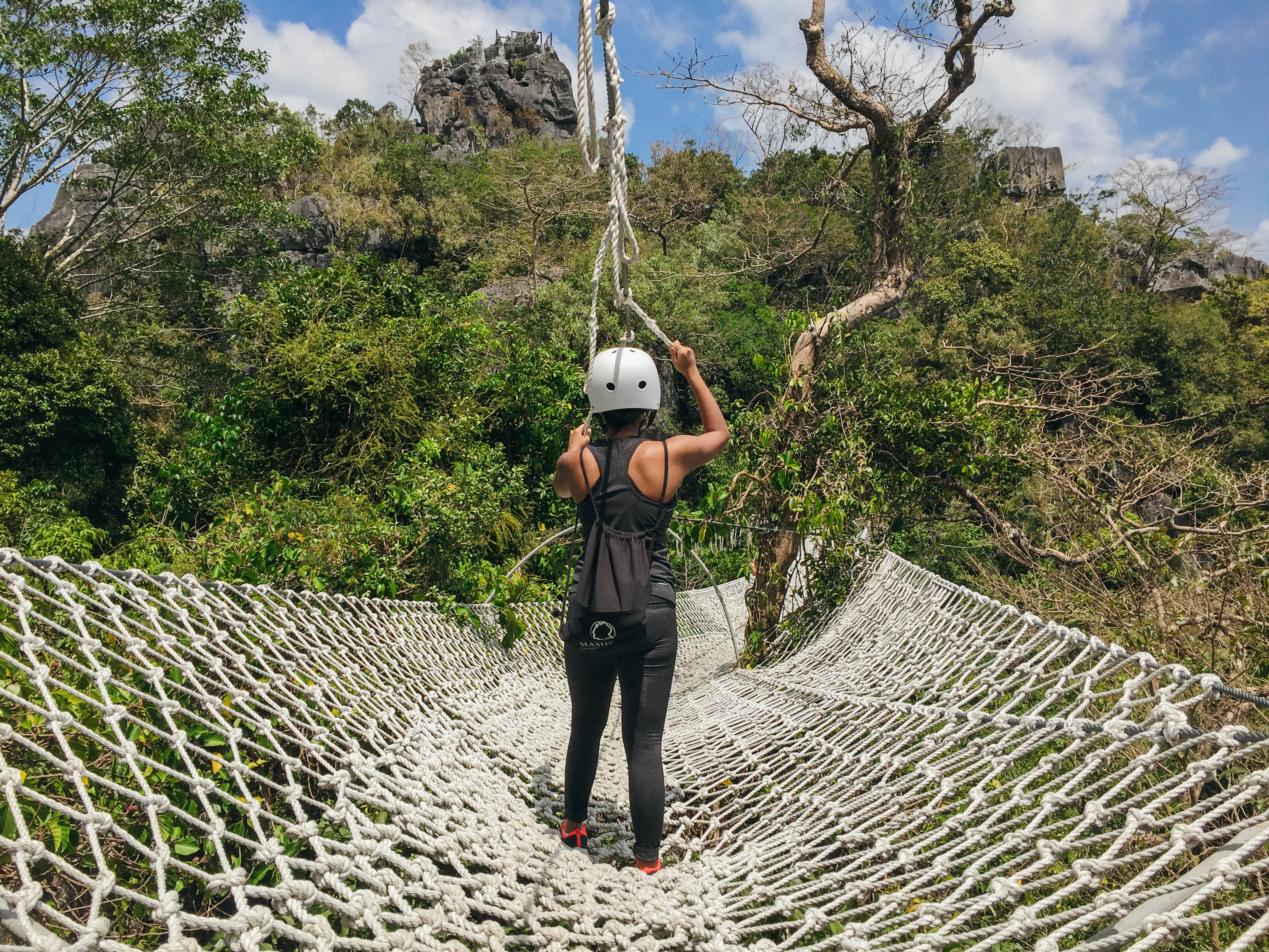 DUYAN. A giant rope hammock, Duyan is one of Masungiu00e2u0080u0099s most photographed rope courses. Photo by Nicole Reyes/Rappler
