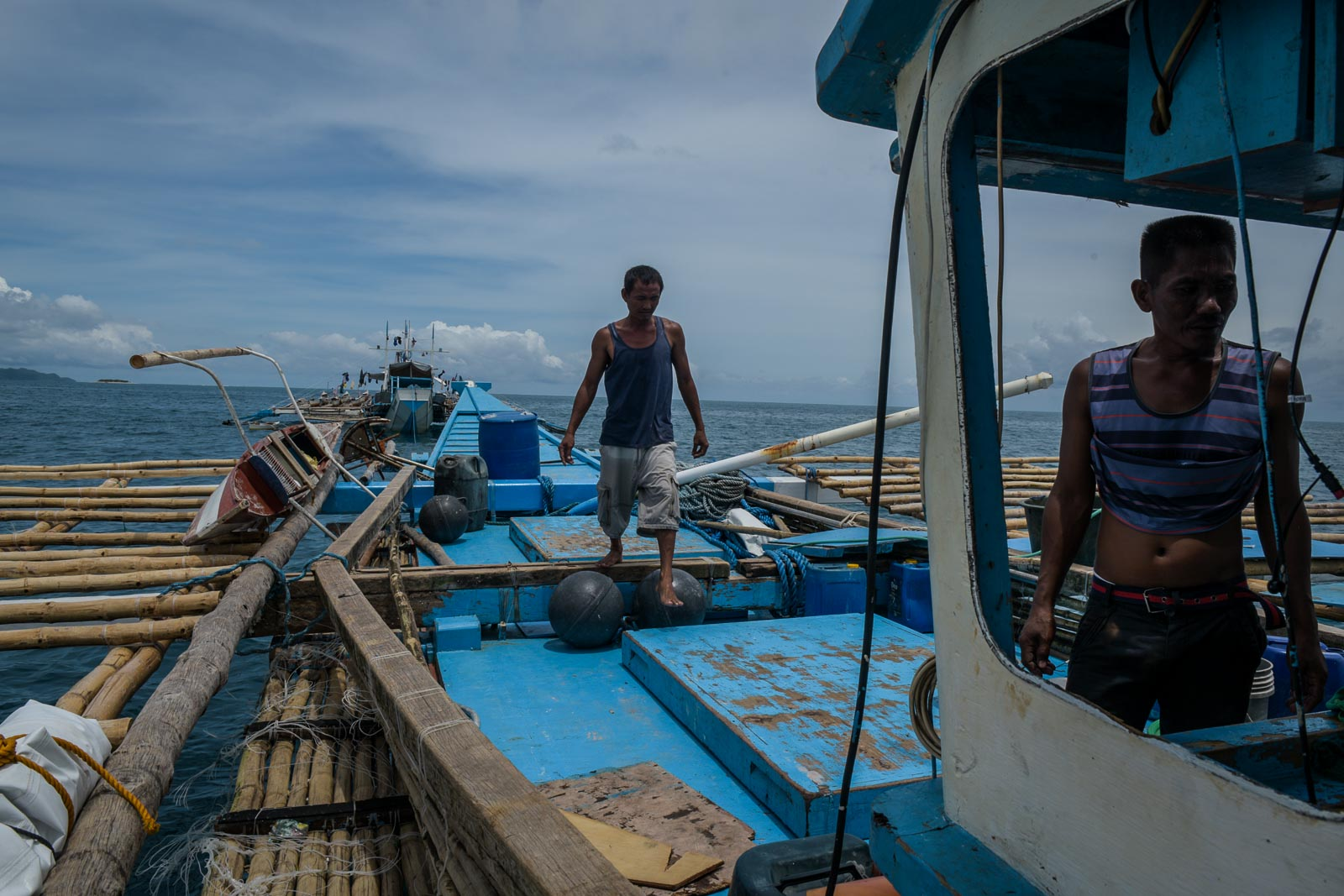 ONBOARD.The boat's mast falls after also being hit by the Chinese vessel near Recto Bank (Reed Bank) in the West Philippine Sea.