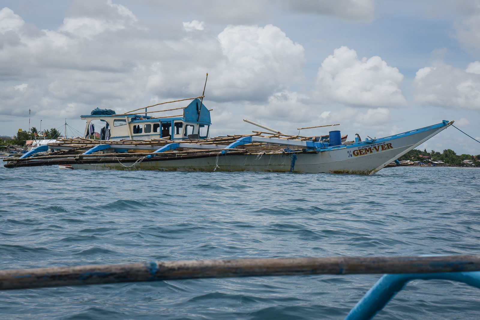 STILL FLOATING. Fishing Boat Gem-Ver is back home in San Jose, Occidental Mindoro.