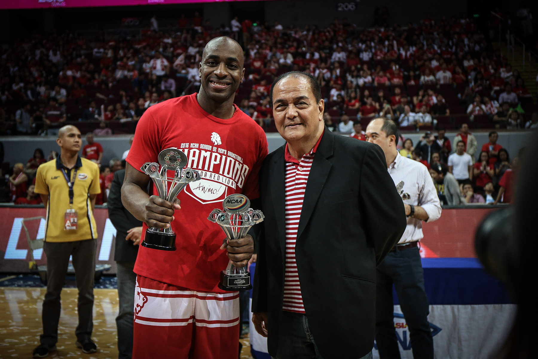 FINALS MVP. Arnaud Noah is named Finals MVP. Photo by Josh Albelda/Rappler