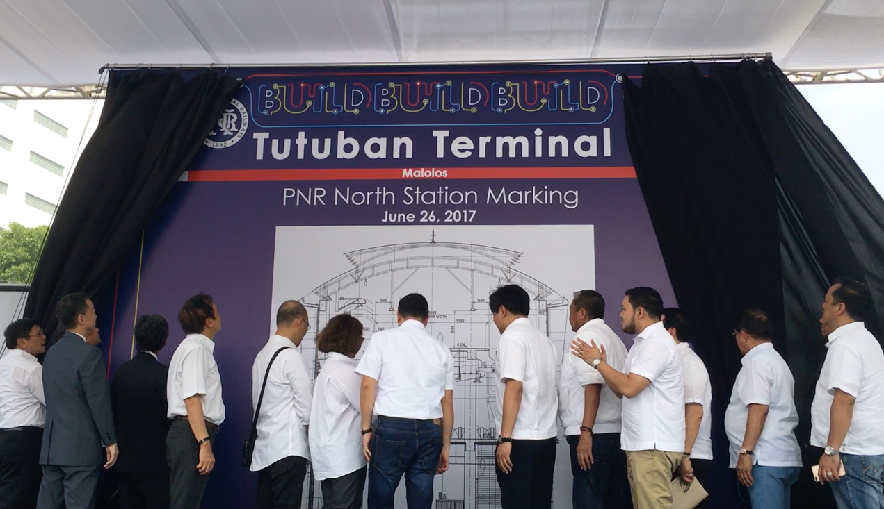 STATION MARKING. The Philippine government and the Japan International Cooperation Agency announce the location of Tutuban Station in Manila on June 26, 2017. Photo by Chrisee Dela Paz/Rappler