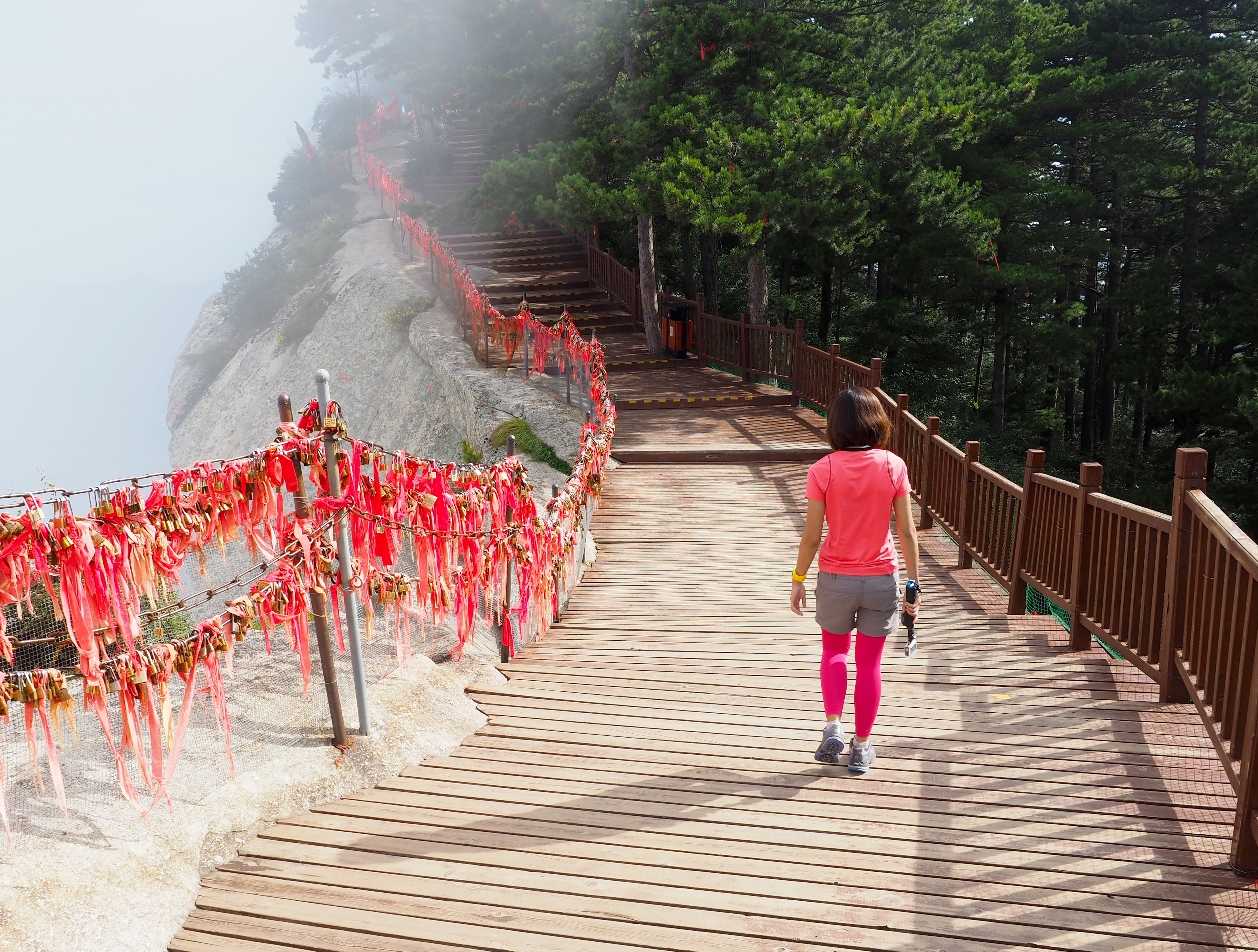 SUNNY AND MISTY. The climate up in Mount Hua can be deceiving. One moment itu00e2u0080u0099s sunny, the next moment itu00e2u0080u0099s misty. Photo by Abram Joseph Bondoc