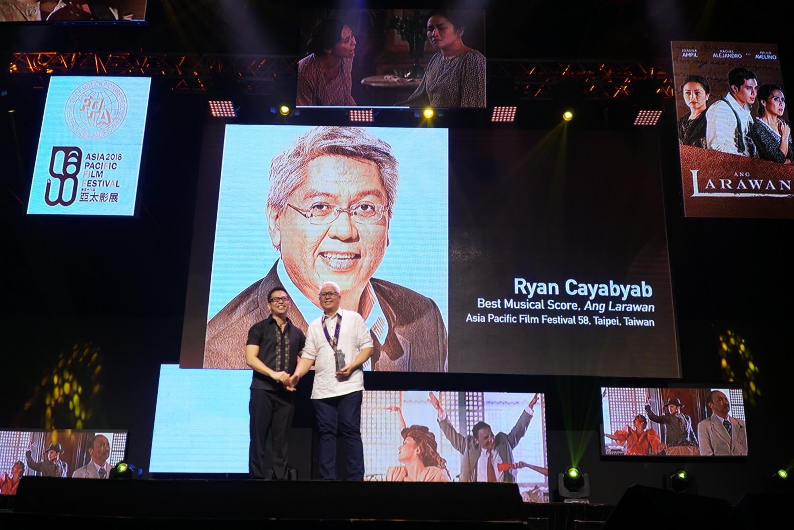 NATIONAL ARTIST. Ryan Cayabyab receives his recognition for 'Ang Larawan.'
