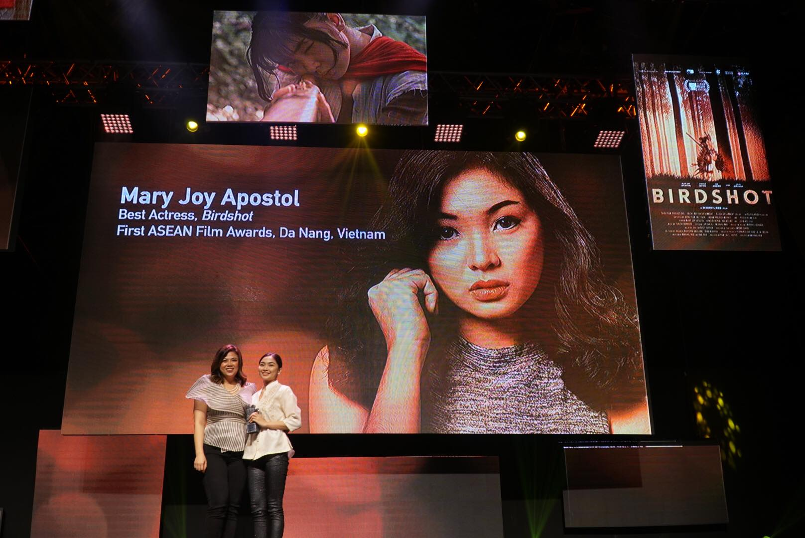 RECOGNITION. Mary Joy Apostol receives her award.