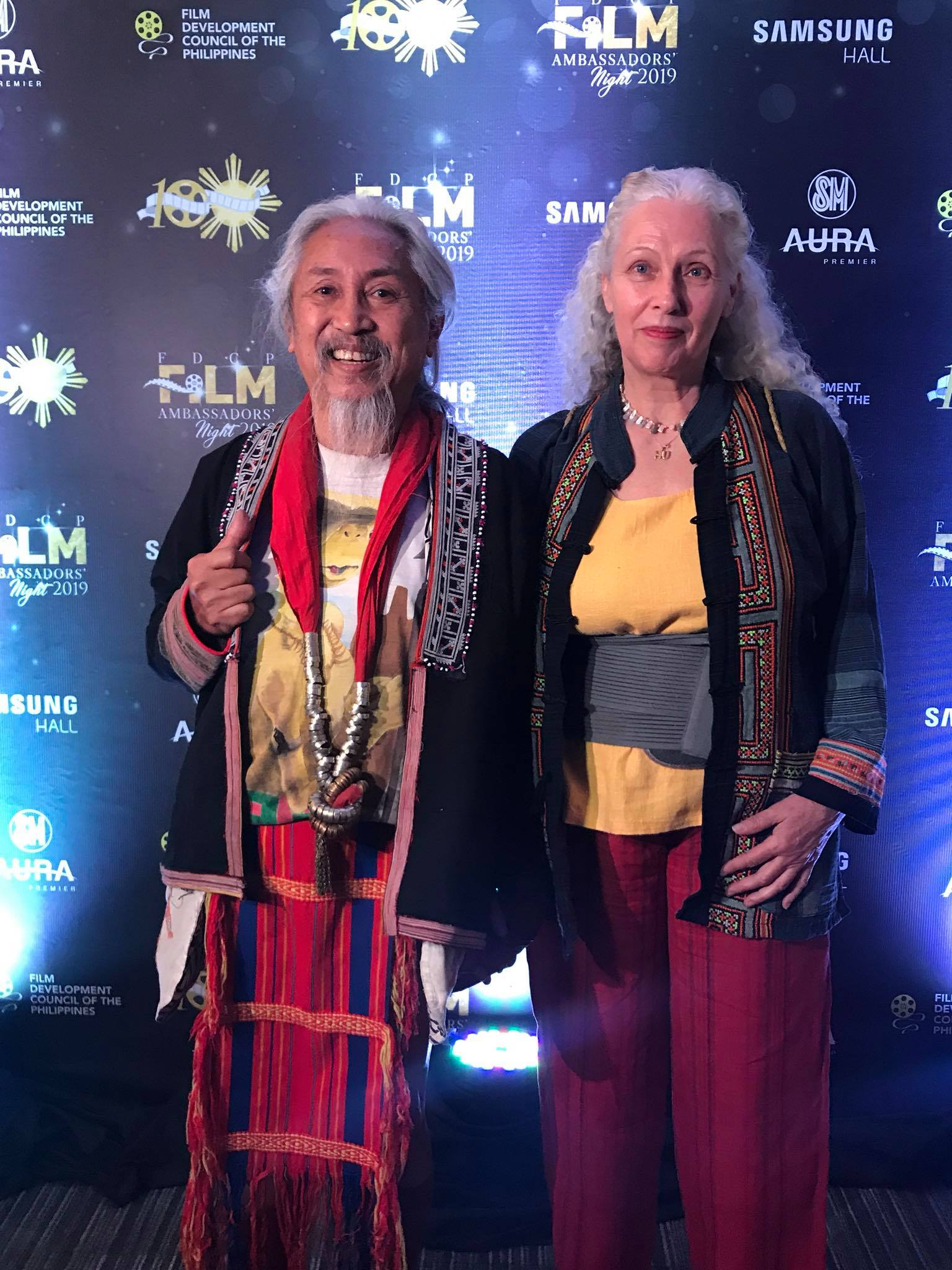 HONOREE. Filmmaker Kidlat Tahimik and his wife Katrin.