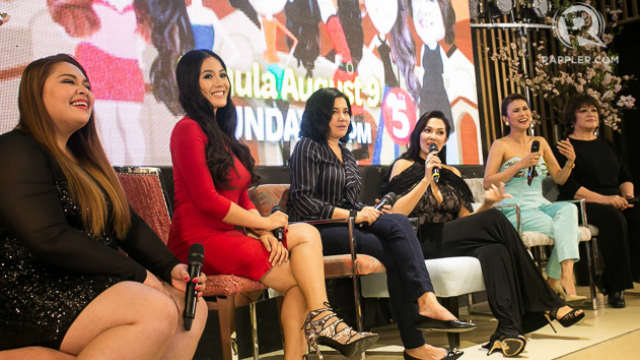 WOMEN EMPOWERMENT. The cast of TV5's latest show 'Misterless Misis' during the press conference. Photo by Manman Dejeto/Rappler
