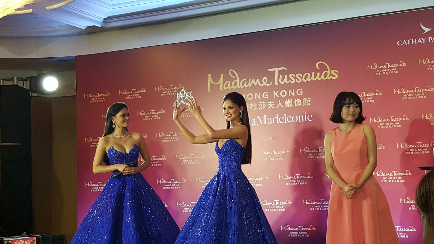 FIRST FILIPINO FIGURE. Pia and Madame Tussauds' Hong Kong general manager Jenny You during the unveiling.