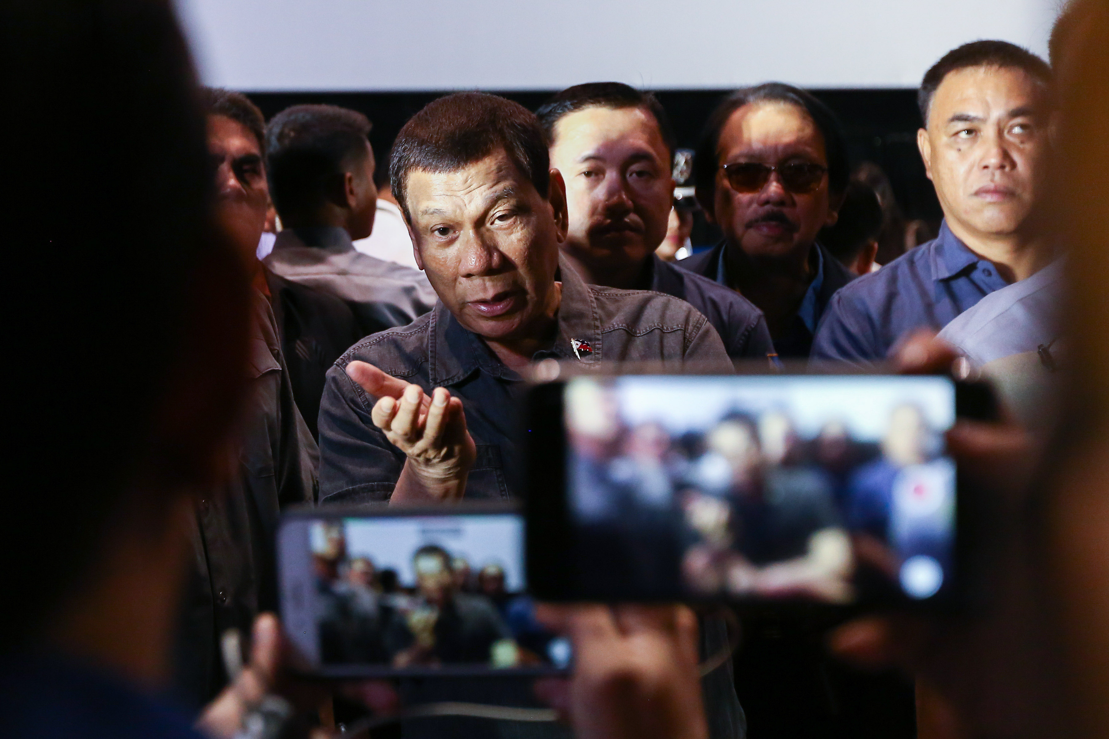 DUTERTE'S VERDICT. President Rodrigo Duterte in an interview with reporters on June 24, 2019, again downplays the sinking of Filipino fishing boat Gem-Ver as a 'maritime incident.' Malacau00f1ang photo