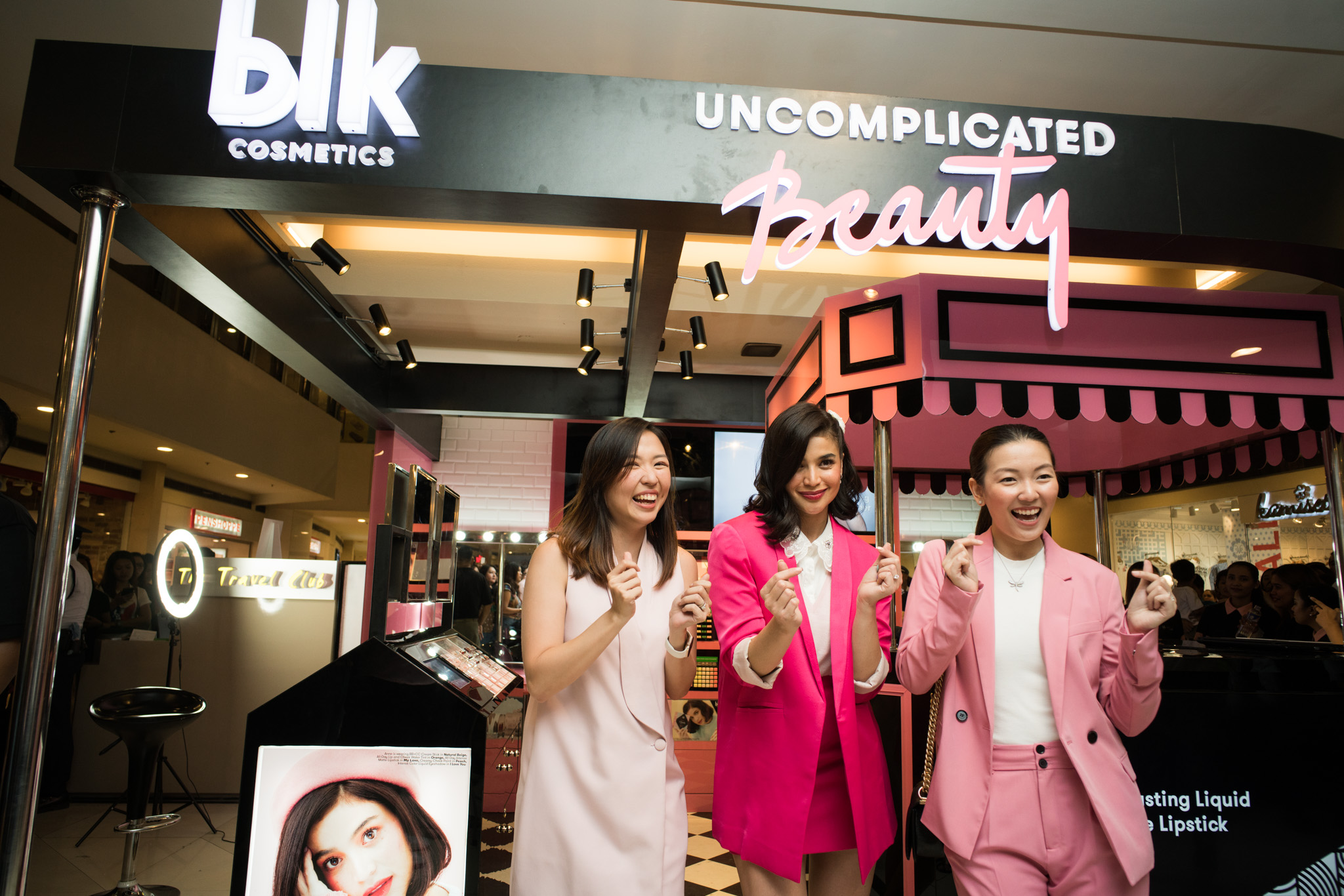 THE WOMEN OF BLK. Anne, who is the brand's creative director, poses with CEO Jacque Gutierrez and managing partner Stephanie Abellada.