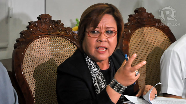 NO TO SPECIAL TREATMENT. Justice Secretary Leila de Lima challenges the US Marine accused of killing Jennifer Laude to appear before the Olongapo City prosecutor. File photo by Jose Del/Rappler