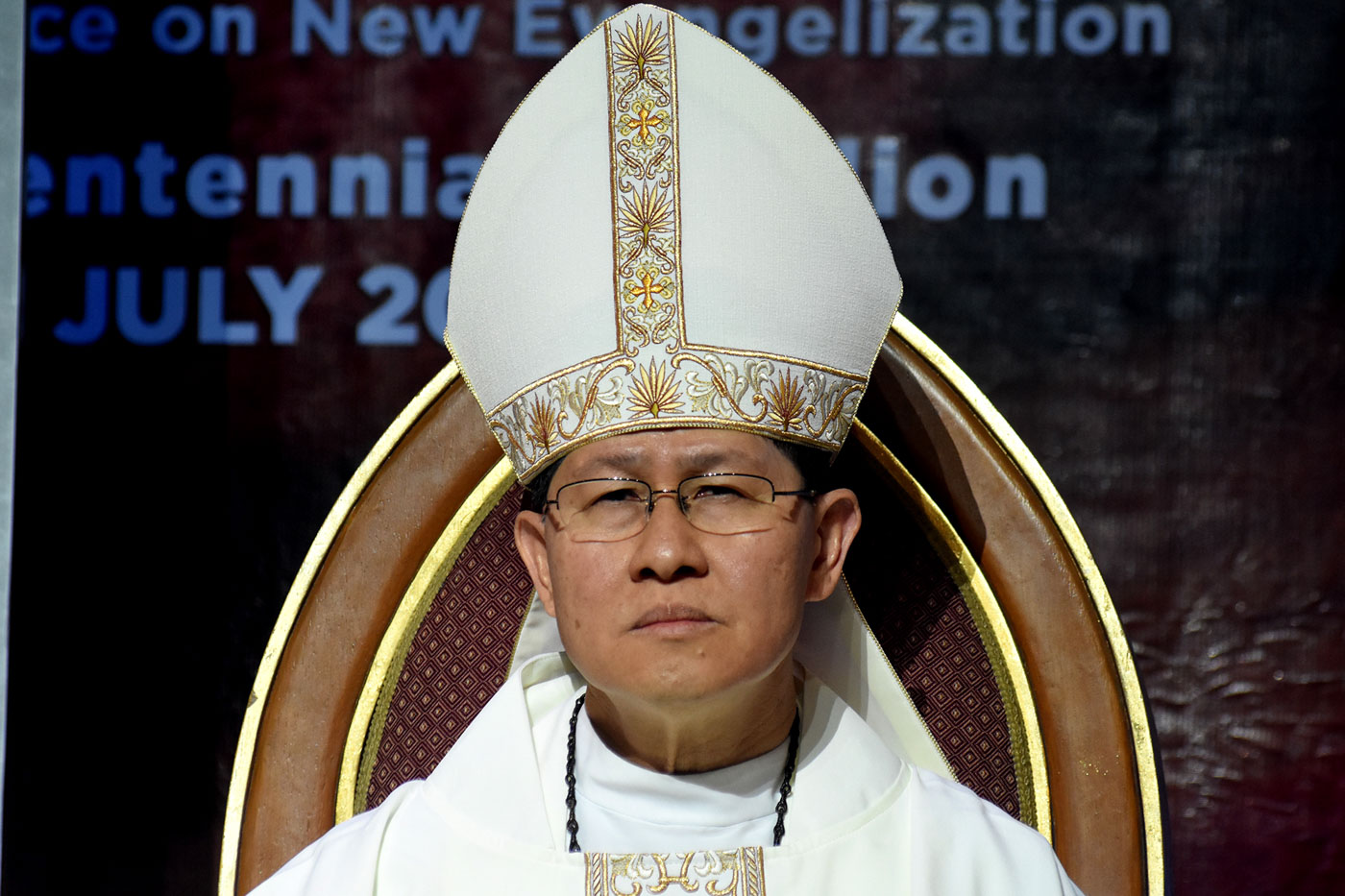 DRUG WAR. Manila Archbishop Luis Antonio Cardinal Tagle says no single group 'could claim to have the only right response' to the drug menace. File photo by Angie de Silva/Rappler