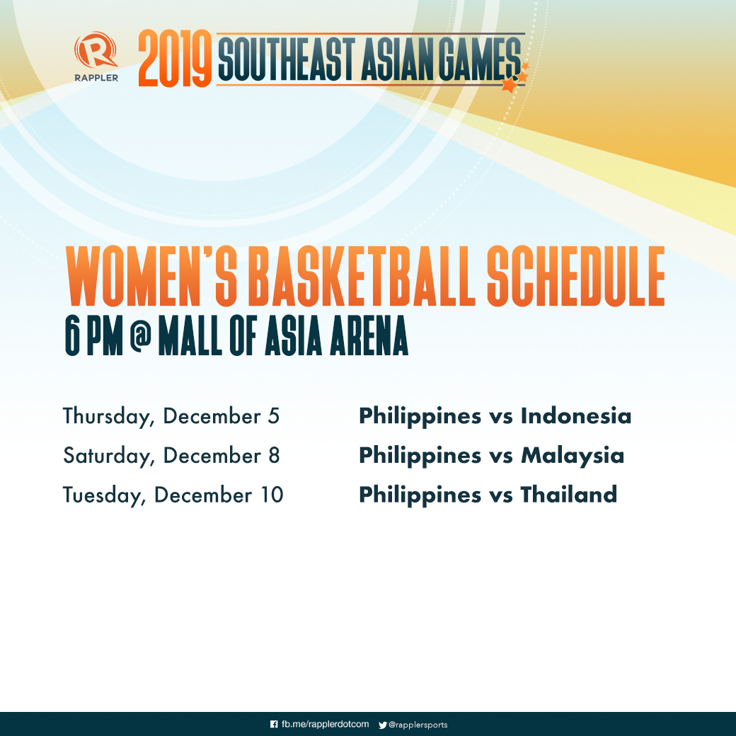 SCHEDULE: SEA Games 2019 basketball competitions