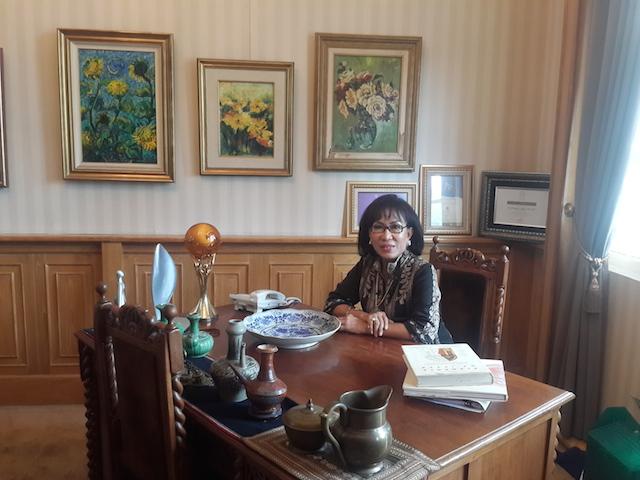 Herawati Sudoyo, Wakil Direktur Institute Eijkman, di kantornya, pada 3 Februari 2016. Foto oleh Uni Lubis/Rappler