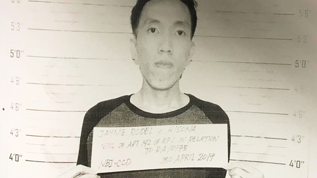 BIKOY. Rodel Jayme is booked for a complaint of inciting to sedition for spreading Bikoy videos, a series of online videos that linked President Rodrigo Duterte's family and those close to him to the illegal drug trade.