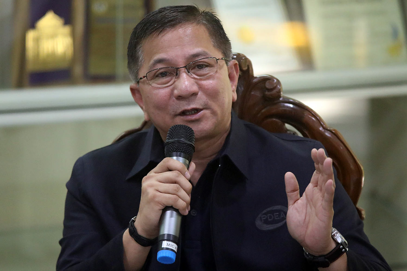 NOT AIRTIGHT. Philippine Drug Enforcement Agency chief Aaron Aquino during a press conference at the PDEA Headquarters in Quezon City on April 30, 2018. File photo by Darren Langit/Rappler
