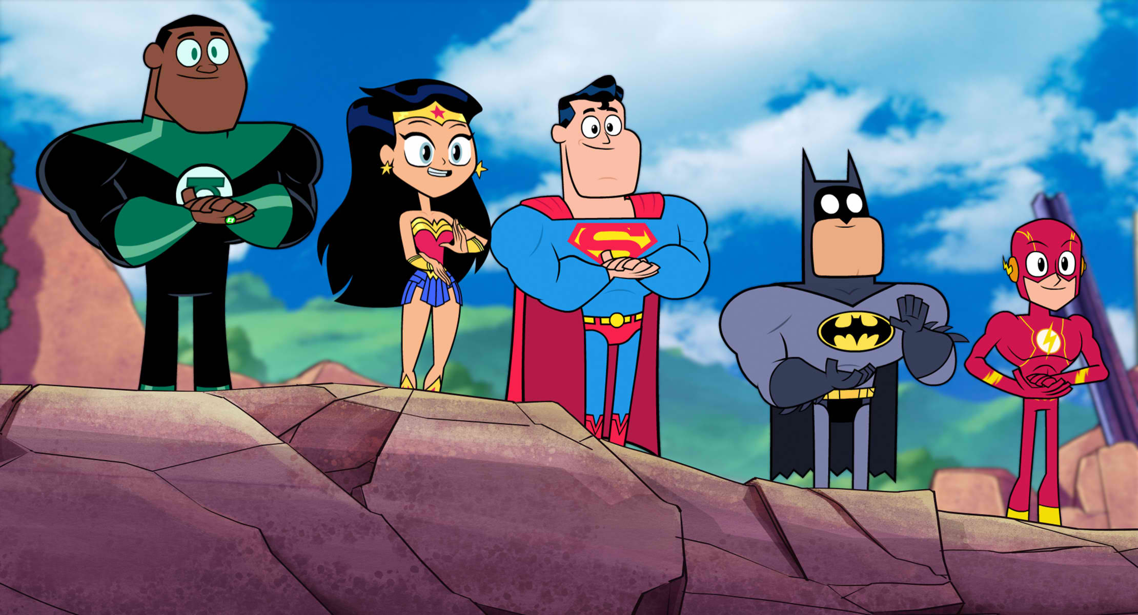 SPECIAL APPEARANCE. The members of the Justice League make a special appearance in the movie.