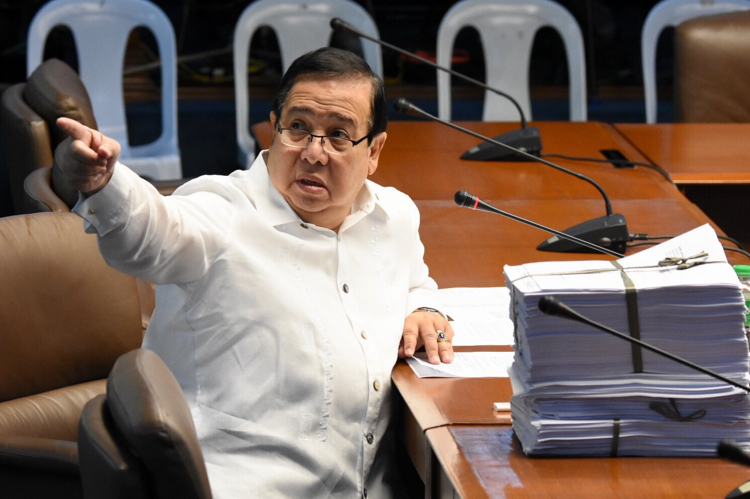 YES OR NO? Senate justice committee chairman now says he is against the abolition of the PCGG but fails to mention he himself filed a bill for that in December 2017. File Photo by Angie de Silva