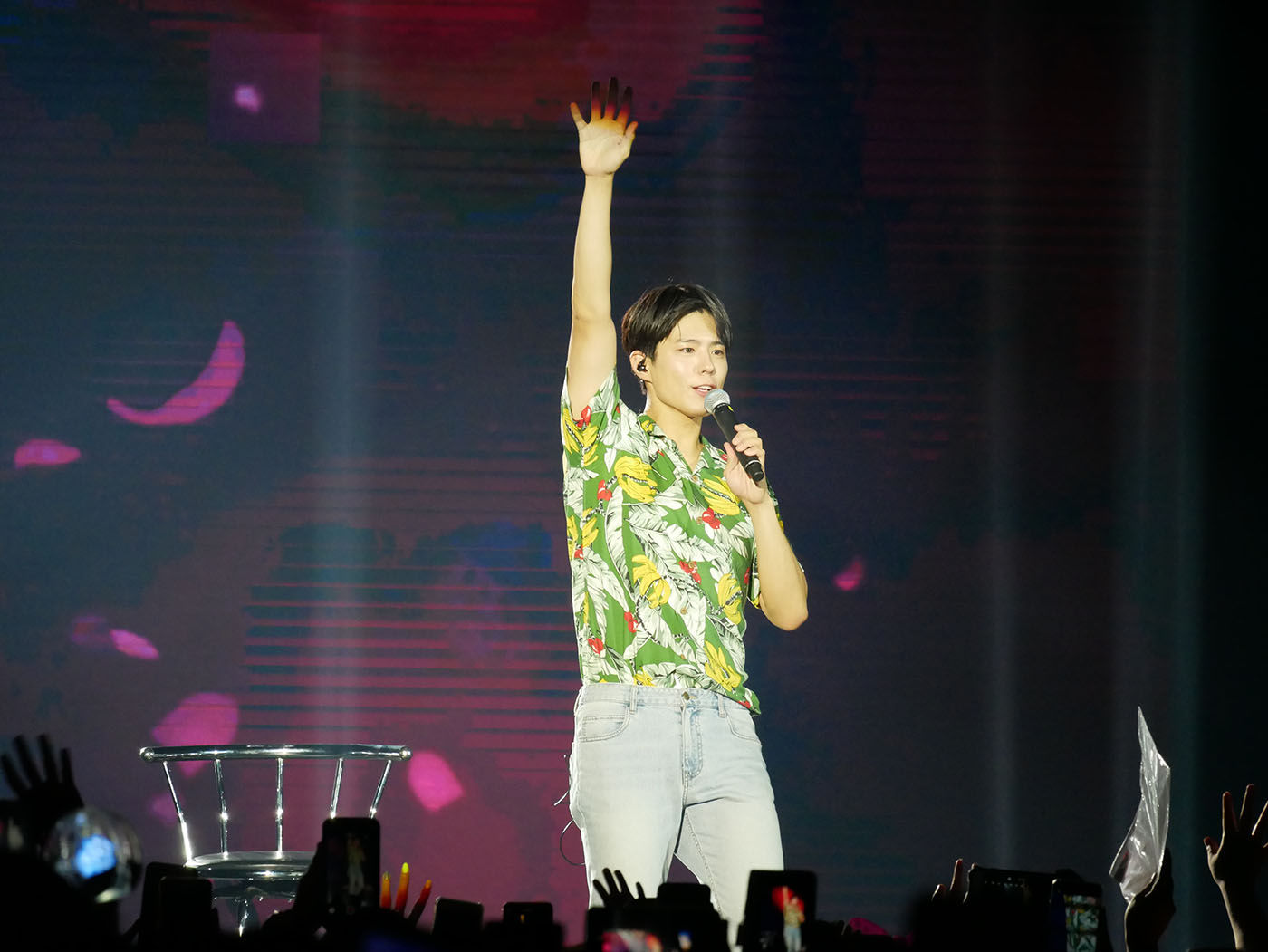 Born to perform: Park Bo-gum sang K-pop hits and his own songs including the OST from Love in the Moonlight. Photo by Nikko Dizon/Rappler