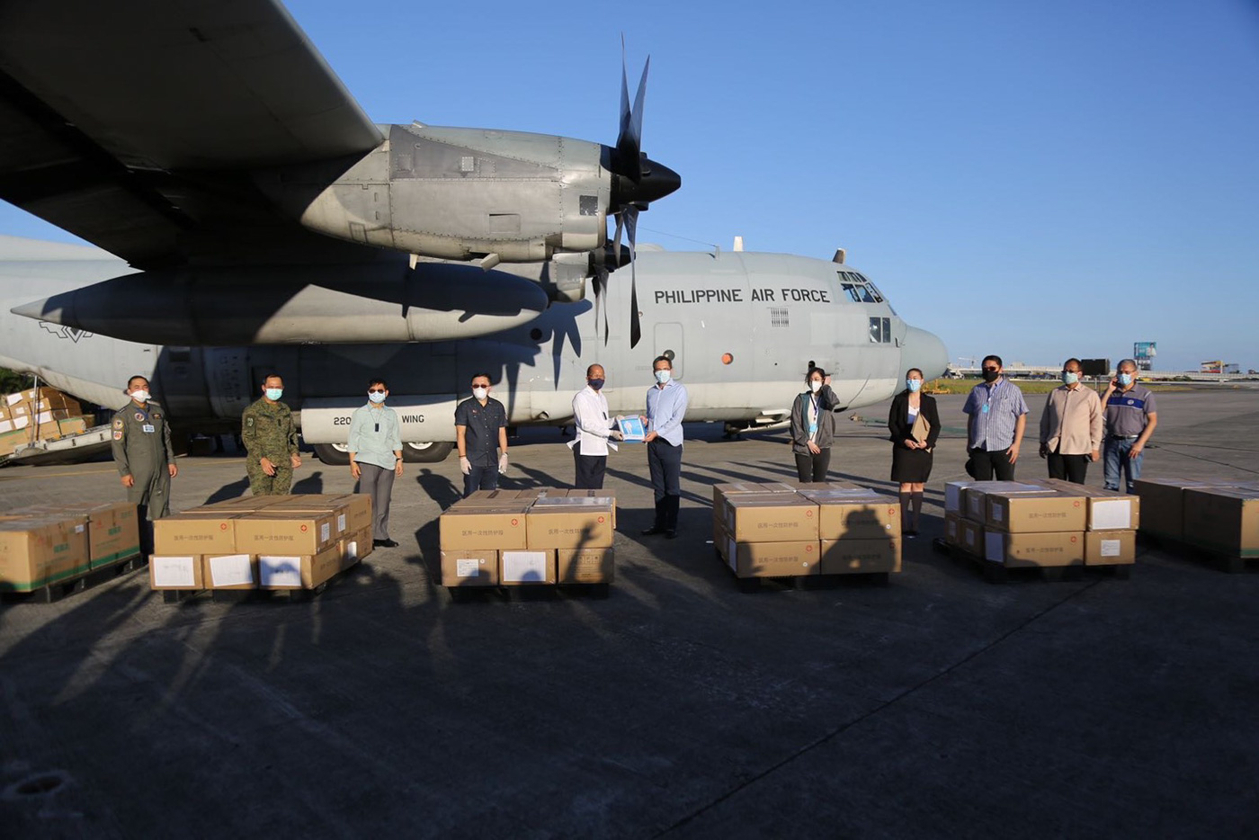 DELIVERED. The Armed Forces of the Philippines receives a donation of medical supplies and equipment on March 21, 2020. Photo from the Armed Forces of the Philippines