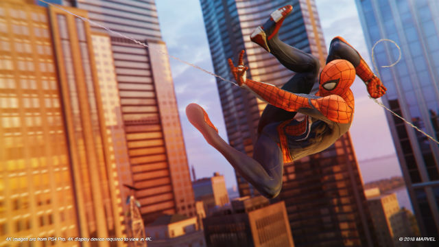 One of the most exhilarating experiences one can have in a video game. Insomniac Games has nailed the web swinging in Marvelu2019s Spider-Man. Image from Sony