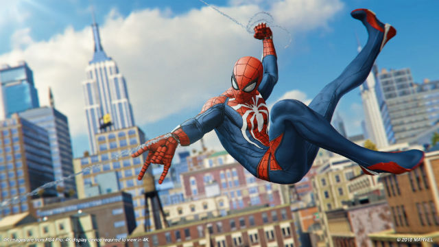 SWINGING AGAIN. The Marvel superhero finds its way to consoles again with his own game coming out on the PS4, September 7, 2018. Image from Sony